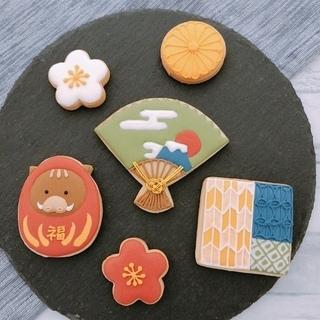 アイシングクッキーで和柄⁉︎ 密かに人気上昇中です。
