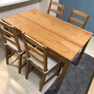 イケア IKEA ダイニングセット ダイニングテーブル ヨックモ...