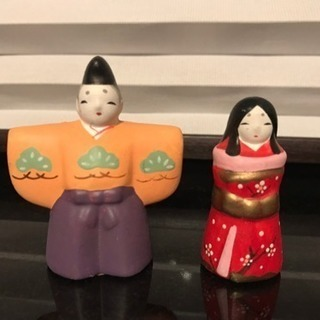 【ひな祭り】豆雛  陶磁器