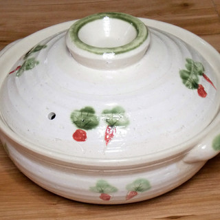 【無料】 中型の土鍋★内径24cm★