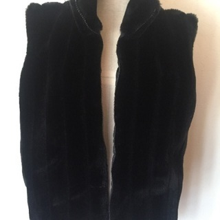 着物にも合うフェイクファーベスト黒‼︎