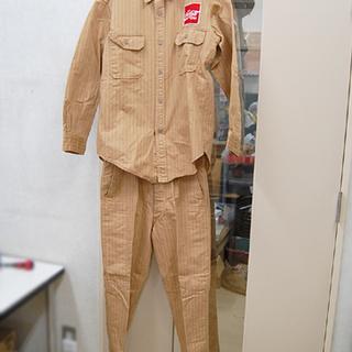 コカコーラ セットアップ 長袖シャツ ワークパンツ 上着LLサイ...