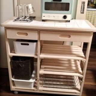 INOBUN 食器棚 ベージュ トースター