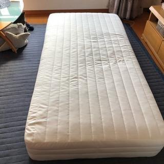 終了★美品 購入から2ヶ月のみ使用★ 無印良品シングルベッド
