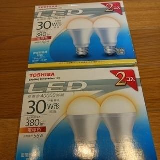 【4個セット】東芝LED電球 電球色