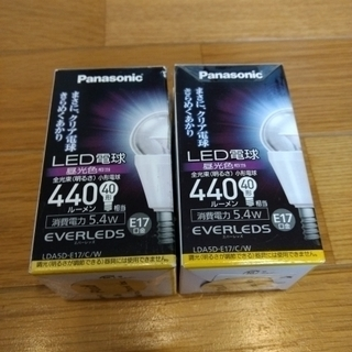 【2個セット】Panasonic LED電球 クリアタイプ E17