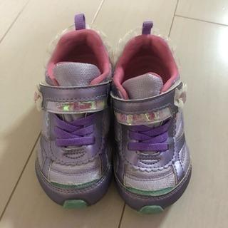 【15.0】紫色キッズシューズ
