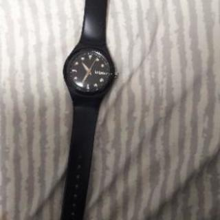 kitson黒腕時計
