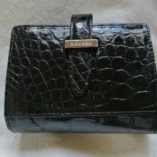 【未使用】ハマノ 二つ折り財布 黒
