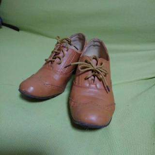 美品 茶の靴ヒモタイプ LL