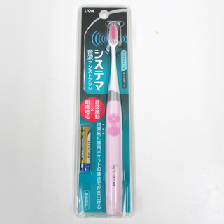 新品 LION ライオン システマ 音波アシストブラシ 電動歯ブラシ