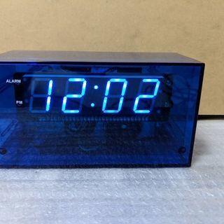 スケルトン LED置き時計