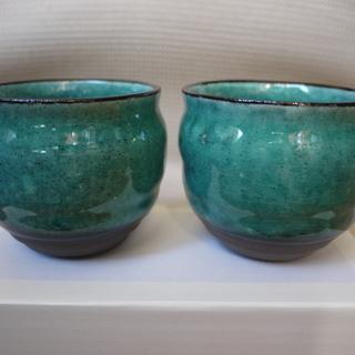 【新品未使用】瓶屋 和陶器 ラウンドペアカップ