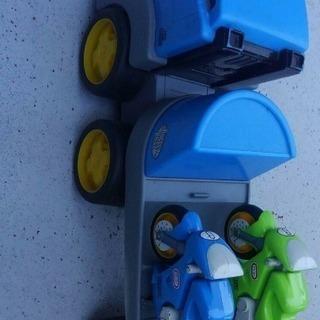 リトルタイクス トレーラー&バイク2台セット
