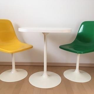 【募集再開】回転 チューリップチェア(シェルチェア)テーブルセット