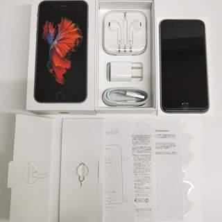 SIMフリー iPhone 6s 64GB スペース グレー 美品