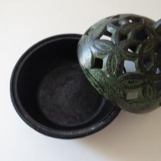 盛岡岩鋳の香炉 京都松栄堂のお香のセット