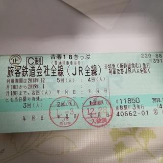 青春18きっぷ 3回