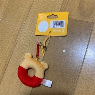 新品未使用‼️プーさんストラップ イヤホンジャック付 ディズニー...