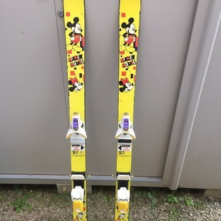 ミッキーの子供用スキー板 120cm
