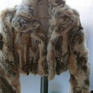 高級ラビット 毛皮 リアルファー コート ジャケット