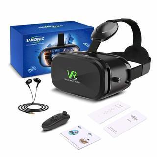 【新品】VRゴーグル ★イヤホン、Bluetoothコントローラ...