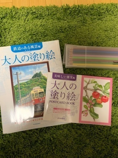 大人の塗り絵セット ミヤ 東静岡の本cddvdの中古あげます譲ります