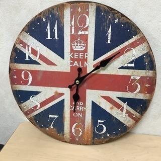おしゃれ✨ イギリス国旗柄 掛け時計