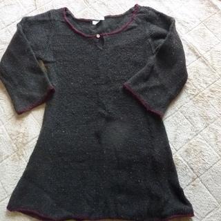 Studio Clip 襟広め ごげちゃセーター