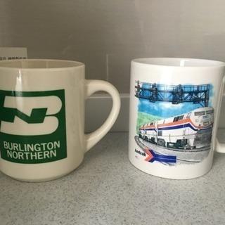 アメリカ 鉄道関係マグカップ