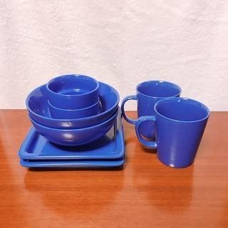 青い食器8点セット
