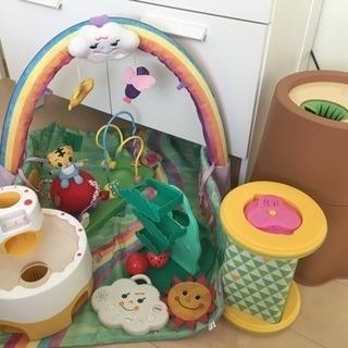 【値下げ!】こどもちゃれんじ ベビー おもちゃセット + ベビージム