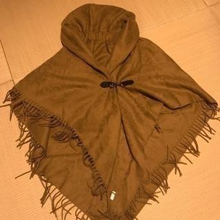 新品 レディース あったかストール風ポンチョ 上品羽織り
