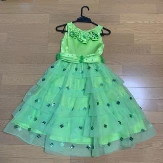 美品‼️女児用ドレス バレエの発表会で利用 緑