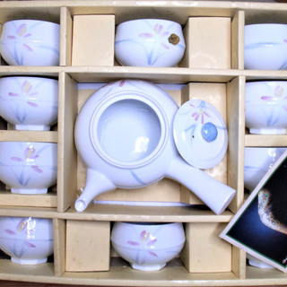 シャディの急須茶器揃10客★白が美しい有田焼