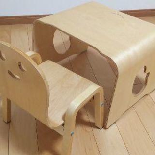 子供用いす&机  きこりさんの椅子セット(取りに来ていただける方限定)