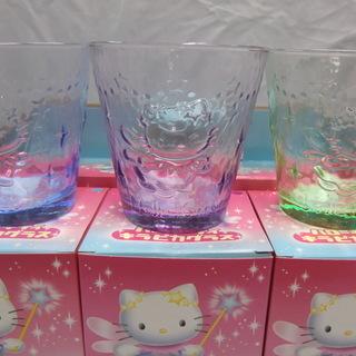 【未使用・非売品】 ハローキティ キラピカグラス 3個セット 箱入り