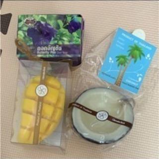 マンゴーとココナッツとお花の可愛い石鹸セット(。・ω・。) 新品...