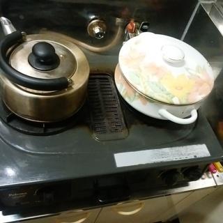 ★無料です★二口コンロ(都市ガス12A/13A) 魚焼き器(グリ...