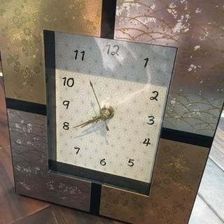 和風モダン置き時計
