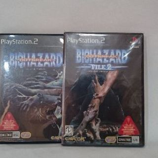 PS2用ソフト BIOHAZARD OUTBREAK FILE1,2