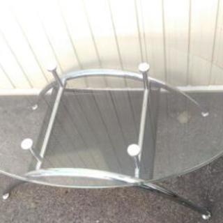 ガラス天板 ローテーブル 座卓 美品 程度良好 配達OK − 愛知県