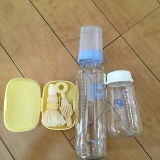 哺乳瓶120、240と、携帯用洗い