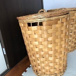 オシャレで収納や、洗濯物カゴ、ハットなど用途多彩なカゴ、入れ物!! - 那覇市