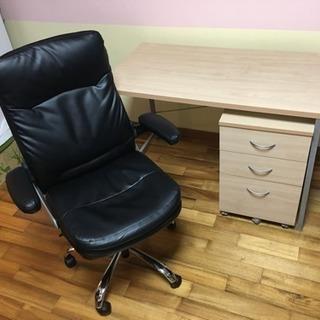 【3点セット】机 椅子 3段ワゴンの画像