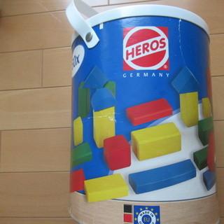 HEROS 筒入り積み木 カラー 50 P