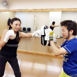 1/27・尾鷲キックボクシング ミット打ち 冬太り解消