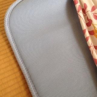 敷布団 ダブル 軽量 水色 カバー付き