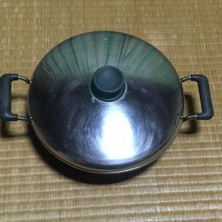 ステンレス製 浅めの鍋 すきやき鍋