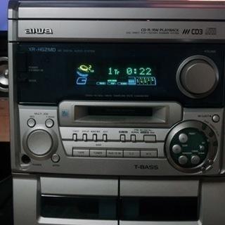 訳あり 旧アイワ製 MD/CDシステム XR-HG2MD